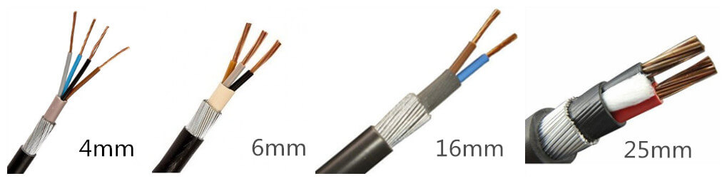 6mm 2 core 3 core 4 core swa-armoured-cable-supplier